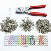 Installation Tools Sewing Buttons Mini Clothes Accessories Five Claws Crafts Metal Round Bag Buckle Hand Pressure Clothes