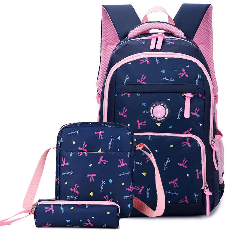80ff43c0fff3 Детский Школьный рюкзак с печатью набор рюкзаков для девочек школьные сумки  Водонепроницаемые рюкзаки детский Ранец школьный