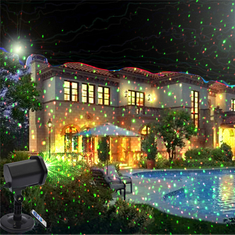 Christmas Moving Projector Remote Control LED Laser Light Stage Party Decor Garden Lawn Lights Outdoor Waterproof Landscape Lamp zjright waterproof moving laser projector lamps snowflakes led stage christmas party garden outdoor floor indoor decor lighting