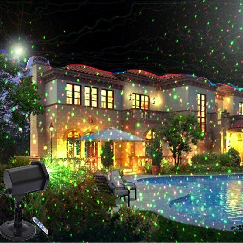 9331279f4cc Proyector móvil de Navidad Control remoto LED luz láser escenario fiesta  decoración jardín césped luces exterior impermeable paisaje lámpara