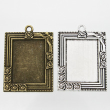 10pcs Retro Antique Bronze MINI Painting Frame Creative Decorative DIY Photo Pendant Home Decoration Parts
