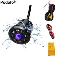Podofo 18,5 мм Автомобильная резервная камера HD цветная обратная камера заднего вида s 8 светодио дный ночного видения 170 градусов мини водостойкий Цвет CCD изображение