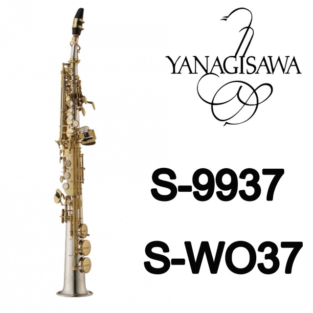 Новый Янагисава сопрано Саксофоны S 9937 S WO37 Серебряный Соник золотой ключ sax Профессиональный мундштук Нашивки колодки Reeds изгиб Средства ух