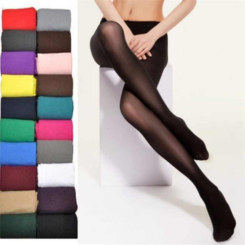 2019 Women <font><b>Sexy</b></font> Tights 20D Seamless Pantyhose Candy Color Tights Opaque Collant Women <font><b>16</b></font> Colors Stockings Elastic Pantyhose image
