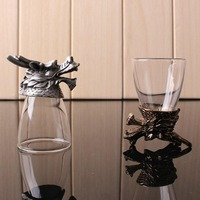 5 4 7cm Eco Friendly 12 Zodiac Series Glass Wine Cup Souvenir Drinking Cup Party Bar