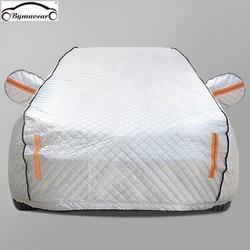 Cubierta de coche más algodón invierno acolchado cubierta de coche cuatro estaciones película de aluminio granizo/resistente a la intemperie/SOL/nieve fit