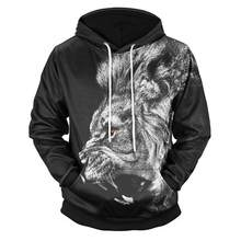 Men Casual Style Polyester 3D Printed Long Sleeve Pullover Hood Sweatshirt Cotton Men's Shirt(China)