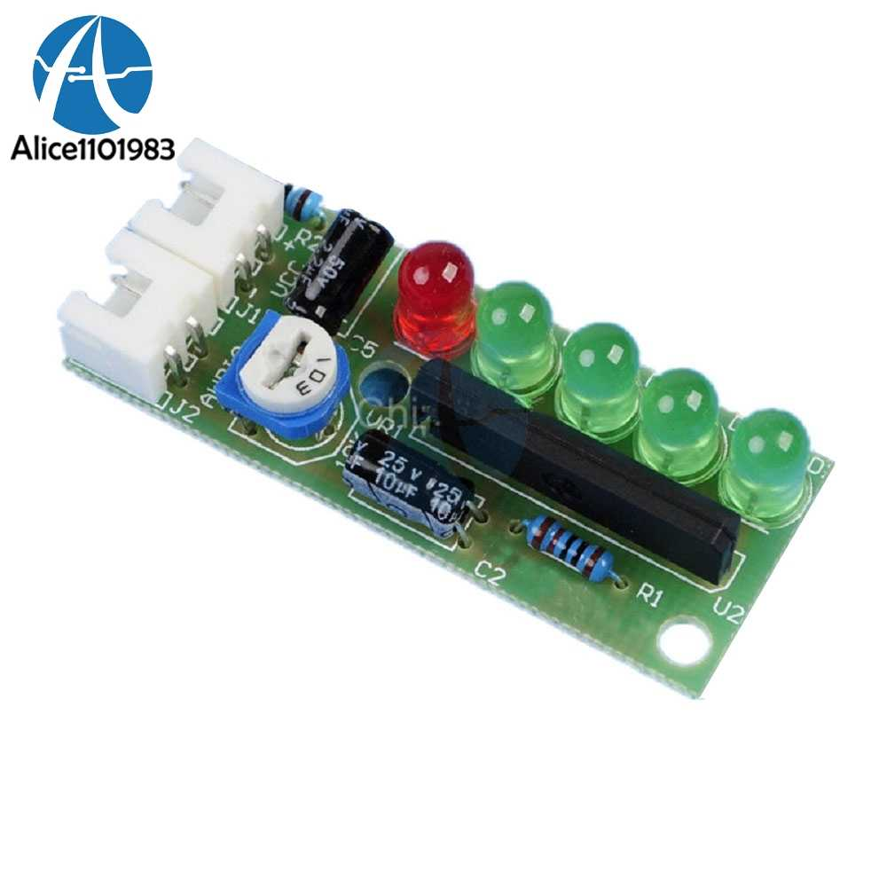 Detail Feedback Questions About 5 Led Vu Meter Driver Module Audio Circuit Board Kits Ka2284 Diy Level Indicator Suite Trousse Electronic Parts 5mm Red Green