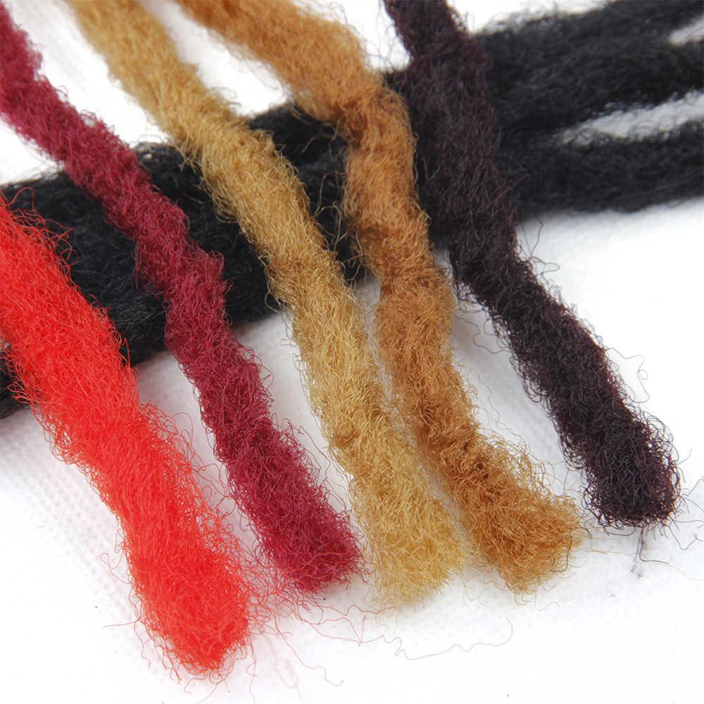Синтетические Dread замки мягкие волосы черные красные коричневые золотые волосы твист вязание косичками плетение волос части волос