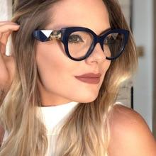 58a2d7a023 Diseñador de la marca gafas de ojo de gato de las mujeres leopardo Tricolor  piernas decoración