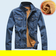 New 2015 Fashion Men Jeans Jacket Man Denim Jackets Jean Outwear Thick Winter coat size M-XXXL Free shipping