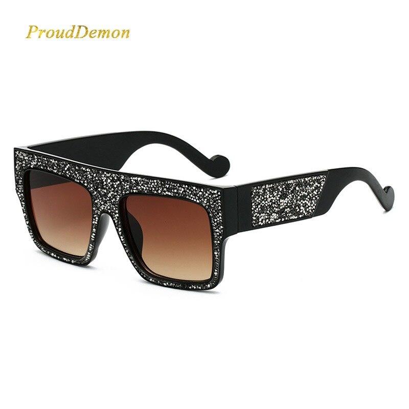 4aa549032f4ed3 2019 Luxe Diamant Vrouwen Zonnebril Merk Designer Oversized Sterren  zonnebril Unisex Gradiënt oculos de sol voor