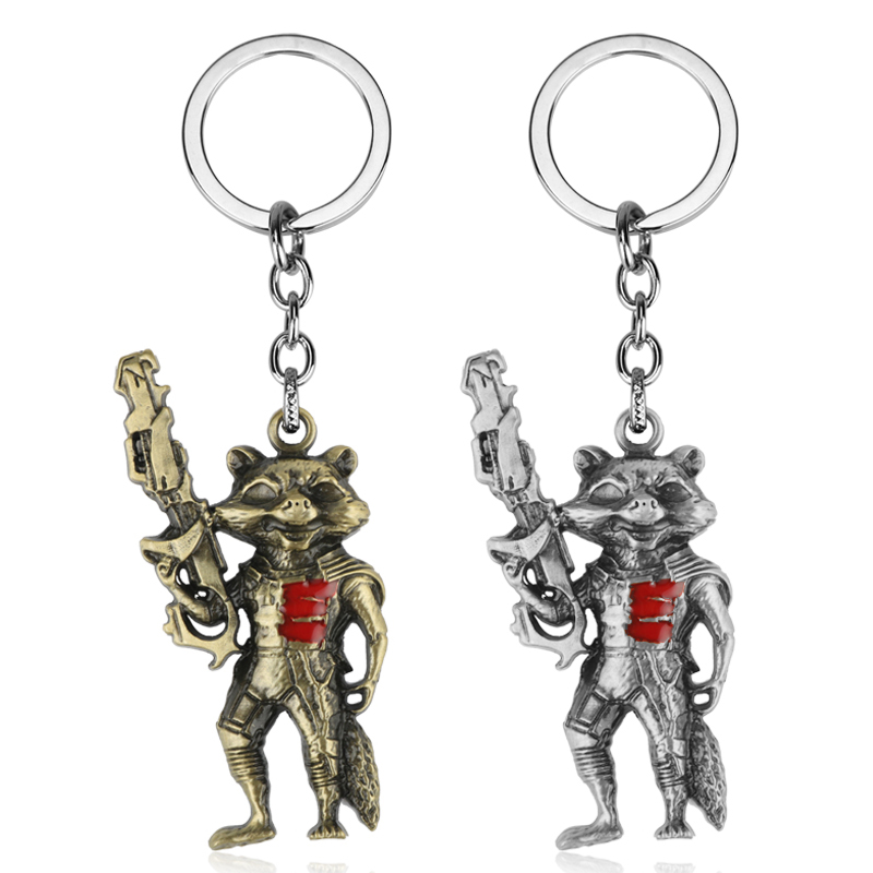 dongsheng Avengers 3 Infinity War Guardians Of The Galaxy Rocket Raccoon Metal Keychains Marvel Comics Super Heros Keyring-50