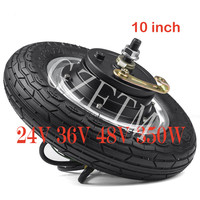 10 inch Adult Electric Scooter 24V 36V 48V 350W Motor Wheel DC Brushless Motor With Tire bicicleta electrica Electric Bike kit