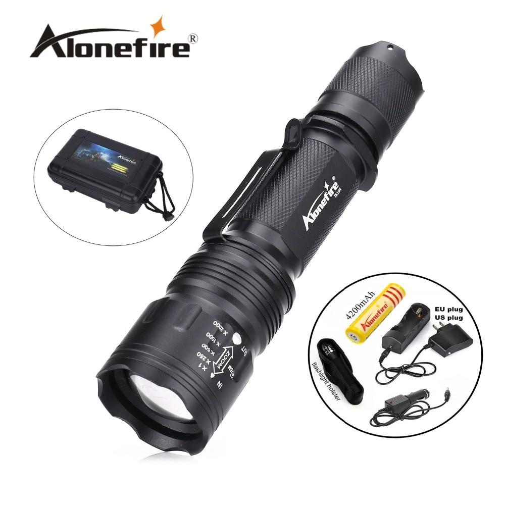 TK104 CREE XM L2 LED 8000LM Zoomable impermeable recargable portátil pistola táctica linterna pistola pistola antorcha luz lámpara