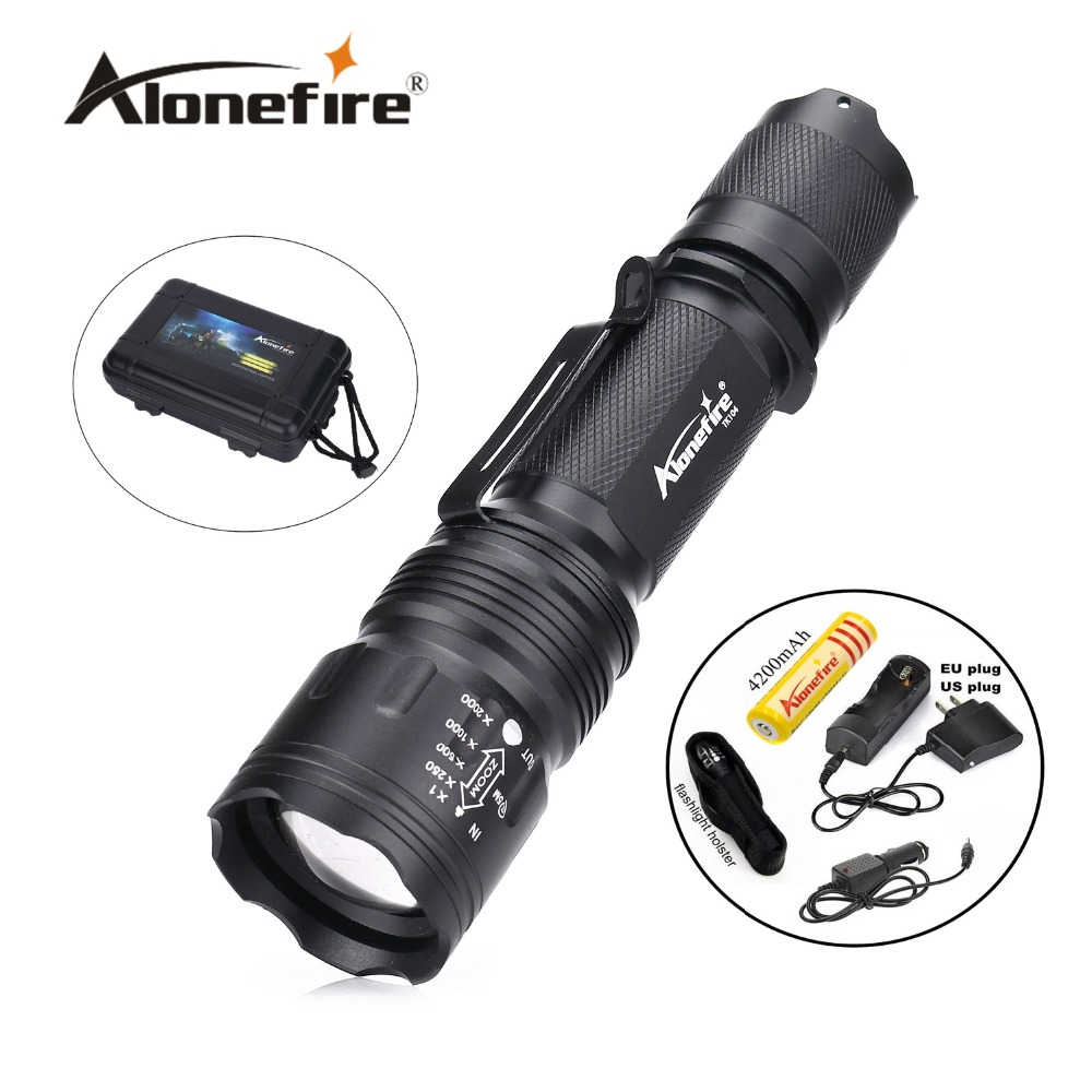 TK104 CREE XM L2 LED 8000LM Zoomable Waterproof isi ulang portabel Taktis Gun Senter Pistol Pistol Torch cahaya Lampu