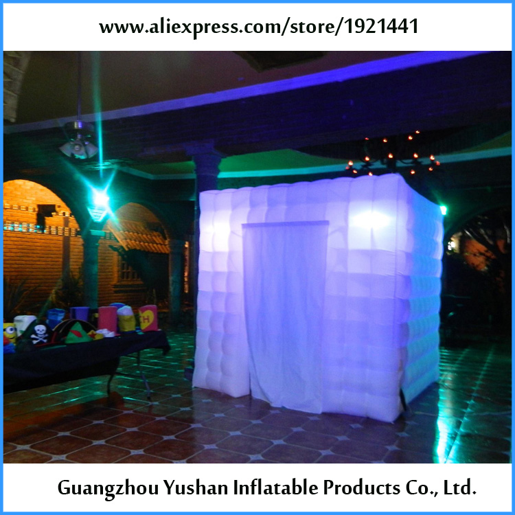 DHL free ship 8ft portable led wedding photo booth rental-in Party