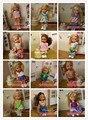 Pequeno Kelly para boneca Barbie 10 conjuntos de roupas, Vestido e ternos pequeno Kaili Ba Barbie Doll Toy pequena boneca de menina