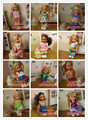 Small Kelly for Barbie doll 10 sets of clothes, dress and suits small Kaili Ba Barbie Doll Toy small girl doll