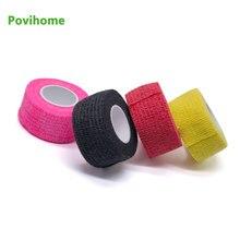 5 stücke Farbe Nicht-woven Selbst-adhesive Elastische Bandage 2.5*450cm Sport Schutz Stretch Verband Tattoo verband D1063