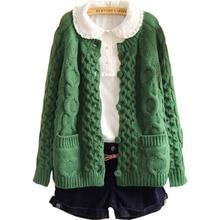 Женский свитер, осенний свитер, однобортный свитер с карманами, модный стиль LD041