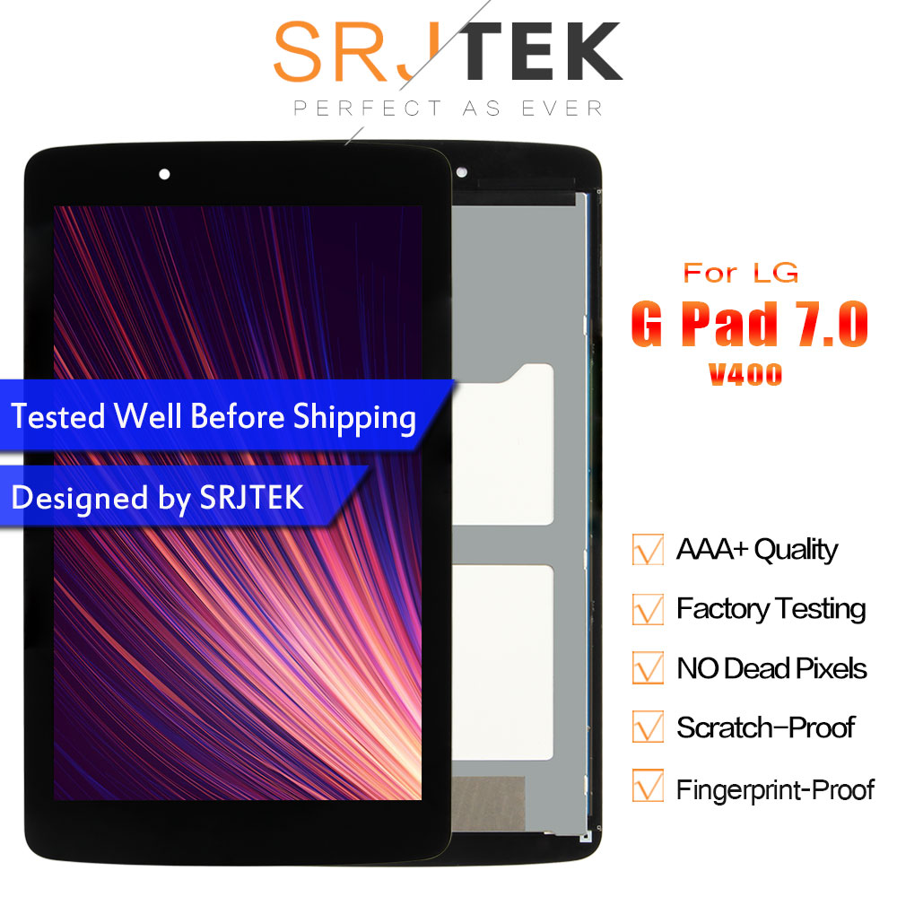 Srjtek For LG G Pad 7.0 V400 LCD Display Touch Screen With Digitizer Sensor Panel Tablet Assembly LD070WX7 V400 Screen