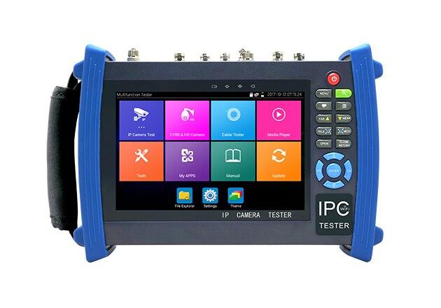 IPC8600 PLUS 7 Inch CCTV Tester Monitor H.265 4K IP Camera Tester Support 5MP AHD 8MP TVI CVI 1080P HD SDI CVBS TDR Cable Tracer