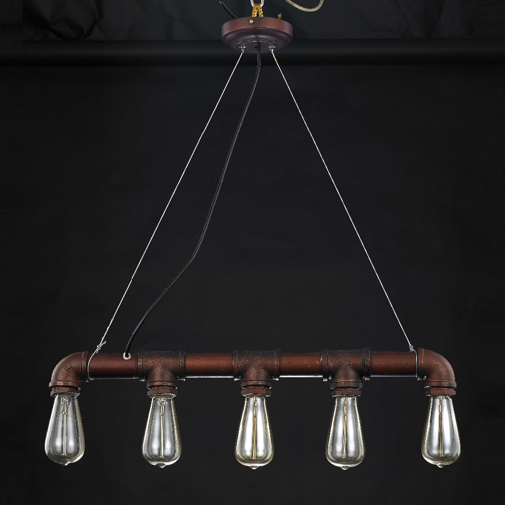 Vintage art deco Pendant light Retro Water Pipe Pendant Lamp for Parlor dining bedroom hotel room