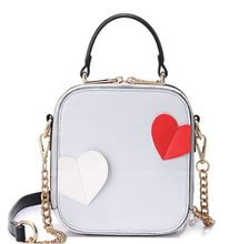 3D stereoscopic love applique chain bag,New super cute original design shoulder messenger bag,fashion lady women crossbody bag