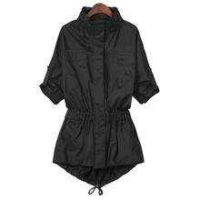 2015 Autumn Style Ladies Single Breasted Long Trench Slim Black Long Sleeve Pokets Women's Outwear Trench Coat For Women Xxxxl
