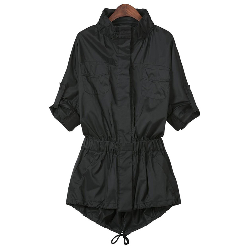 Online Buy Wholesale long black trench coat from China long black