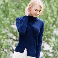 100 кашемировый свитер для женщин и девочек; сезон зима осень; темно синие свитера; красный цвет; женская теплая натуральная ткань; высокое ка