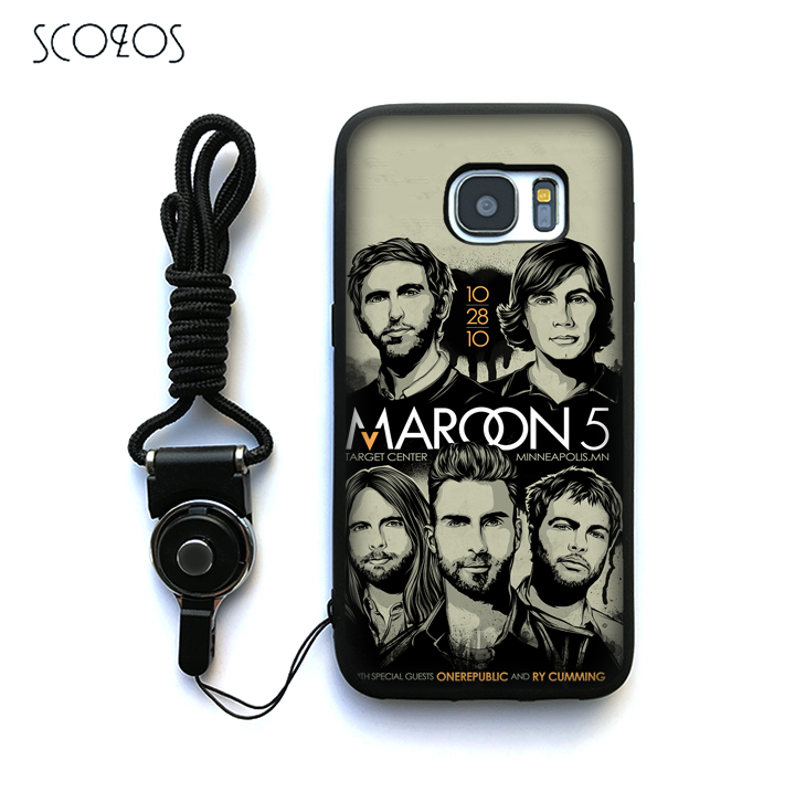SCOZOS maroon 5 M5 (2) Silicone Case Cover For Samsung Galaxy S6 S7 S7 edge S8 S8 Plus J3 J5 J7 A3 A5 A7 2016 Note 8 &ww220