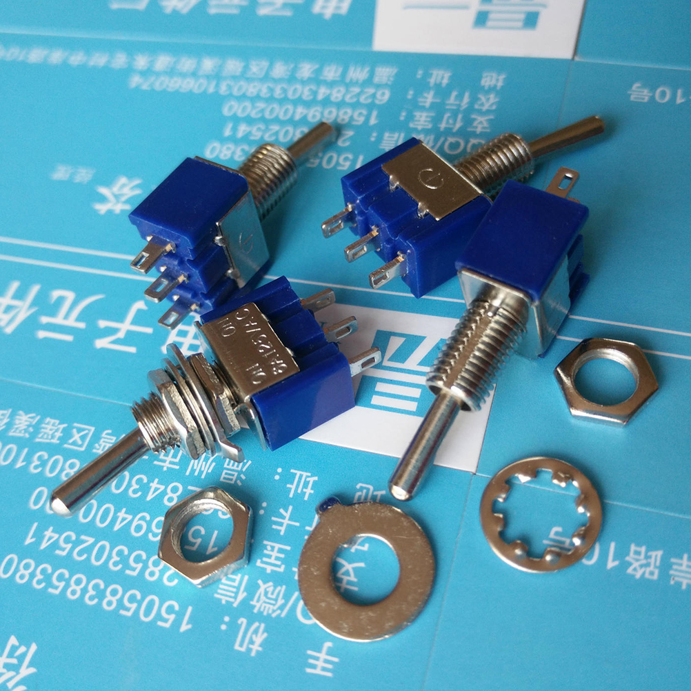 10pcs Mini MTS-102 3-Pin SPDT ON-ON 6A 125VAC Toggle Switches NEW MTS-102 Mini Toggle Switch