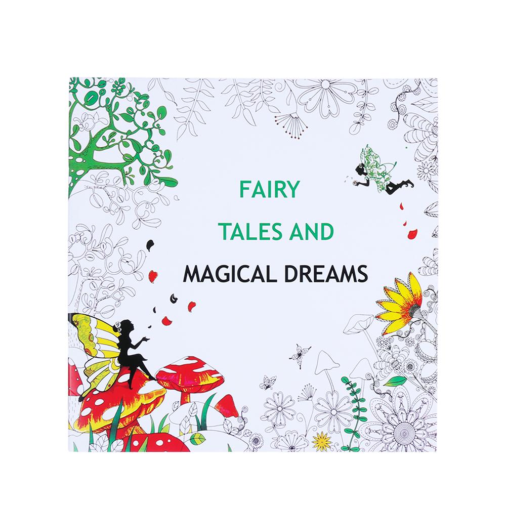 Fairy Tales Fun&Beauty Designs Stress Relief Coloring Book Mandalas Animal Relieve Stress For Kids Adult Coloring Book 25*25cm