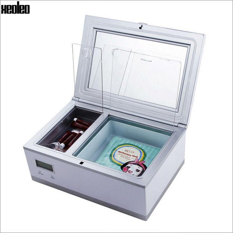 Xeoleo Cosmetic Refrigerator 3L Cosmetics Reefer Portable Cosmetics Cooler Car Fridge Vertical Mini Cooler Box 220V Beauty Box