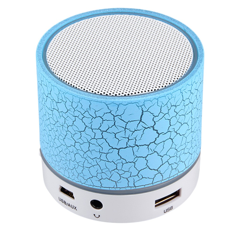 50PCS/LOT LED Mini Bluetooth Speaker A9 TF USB Wireless Portable Music Sound Box Subwoofer Loudspeakers For Phone PC With Mic