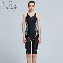 0d2070c253 2019 Hot Sale Athletic Swimwear Long Leg Bodysuit Women 1 Piece Bathing Suit  Boyshorts Swimsuit Sport