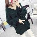Студенты Зима Толстые Пуловеры Новая Волна Крупных Женщин Размер Свитера
