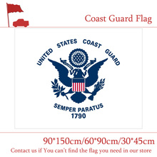 Free shipping 3x5ft Polyester Banner The Coast Guard Auxiliary Commandant Flag 90*150cm 60*90cm 30*45cm Car America