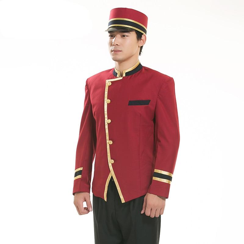 Red Hotel Uniform For Men Hotel Reception Uniform For Men Hotel Receptionist Hotel Waiter Clothes