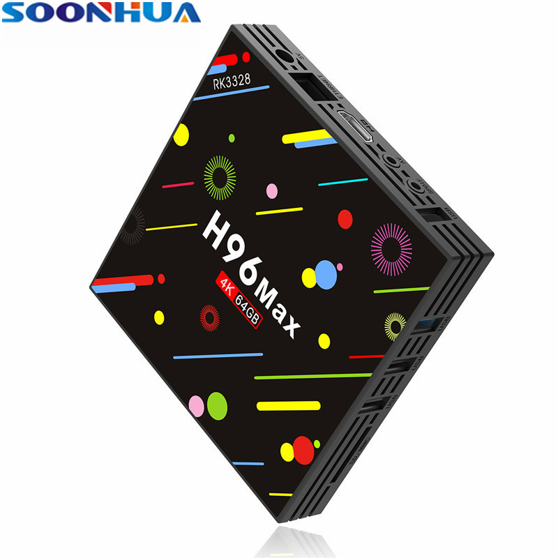 SOONHUA New H96 TV Box Android 7.1 HD TV Box 4G 64G Quad Core 4K Smart TV Set top Box 2.4GHz USB3.0 WiFi Bluetooth Media Player new tv engf9304gf engf9304