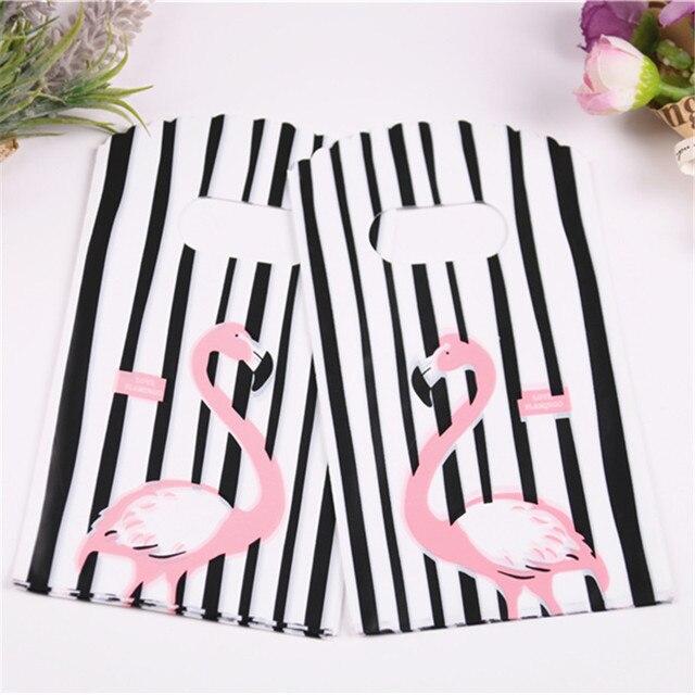2019 новые стильные черно белые полосатые мешочки оптом 50 шт./лот 9*15 см Высококачественная Роскошная маленькая подарочная упаковка с фламинго