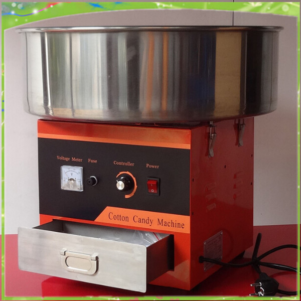 220V stainless steel electric heating automatic stiring popcorn making machine and candy floss machine