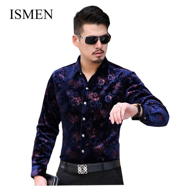 3a7d5987 Ismen Camisa manga larga para hombre moda para hombre Casual de ...