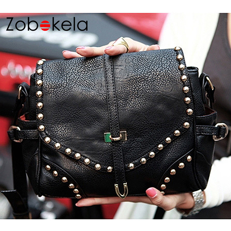 ZOBOKELA Women Messenger bags handbags women famous brands fashion black small crossbody bag for women shoulder bag female  2017 мужская сумка carlo gattini ruffo 1005 1005 02
