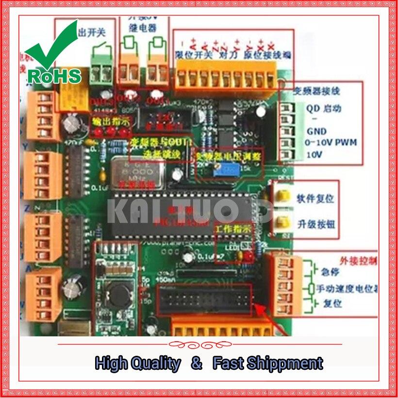 Module de contrôleur de moteur pas à pas de carte de contrôle de carte d'interface de machine de gravure de quatre-4 axes d'usb CNC