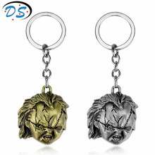 Horror Movie Seed of Chucky Keychain Metal Key chain Key ring Men's  Personalized Car Key Chains Chaveiro