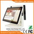 Haina Touch 15 pulgadas táctil pantalla gasolinera sistema POS pantalla Dual máquina