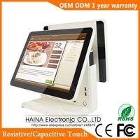 Haina Touch 15 inch Màn Hình Cảm Ứng Trạm Xăng Hệ Thống POS Màn Hình Kép POS Máy